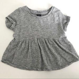 Marled Gray Peplum Shirt